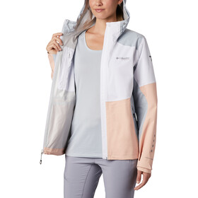 Columbia Titan Pass 2,5-warstwowa kurtka Kobiety, white/peach cloud/cirrus grey